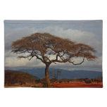 African landscape cloth place mat