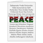 African Languages Peace Card