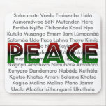 African Languages Peace Mouse Pad
