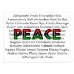 African Languages Peace Postcards