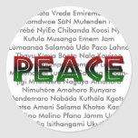 African Languages Peace Sticker