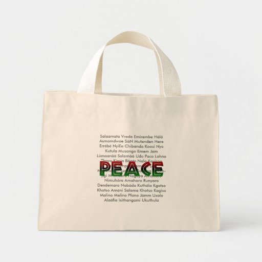 African Languages Peace Tote Bag