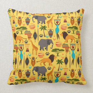 African lifestyle throw pillow
