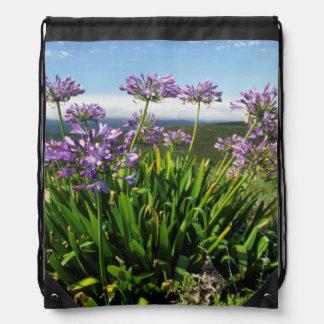 African Lily (Agapanthus praecox), Mossel Bay Drawstring Bag