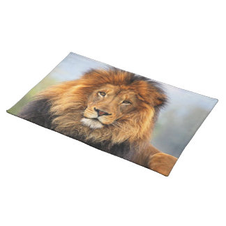 African Lion 1 Cloth Placemat
