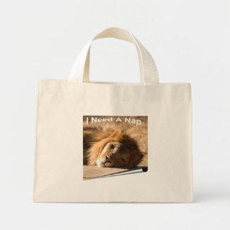 African Lion-7136--11x11fram Mini Tote Bag