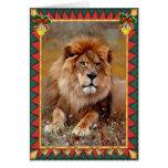 African Lion Animal Blank Christmas Card