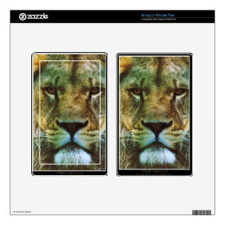 African Lion Big Cat Wildlife-lovers Art Kindle Fire Decal