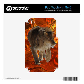 African Lion Big Cat Wildlife-lovers Art Skins For iPod Touch 4G