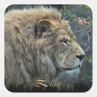 AFRICAN LION Big Five Big Cat Wildlife Stickers
