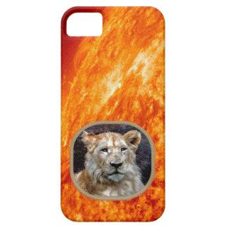 African Lion & Burning Sun iPhone Case
