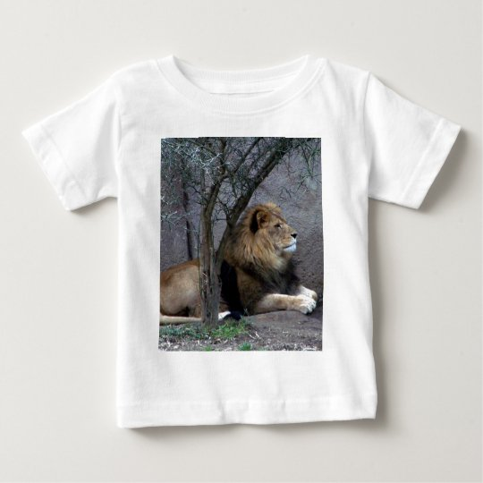 african lion by tree baby T-Shirt