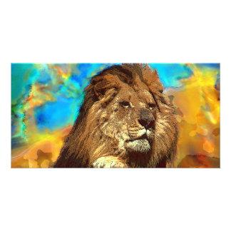 African-Lion-Digital Art Card