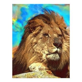 African-Lion-Digital Art Flyer