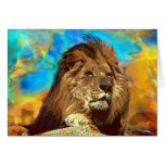 African-Lion-Digital Art Greeting Cards