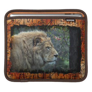 African Lion Endangered Wildlife iPad Sleeve