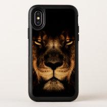 African Lion Face Art OtterBox Symmetry iPhone X Case