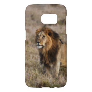 African Lion in Grass Galaxy S7 Case
