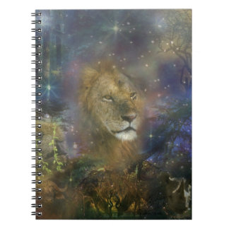 African Lion in the Jungle Spiral Notebook