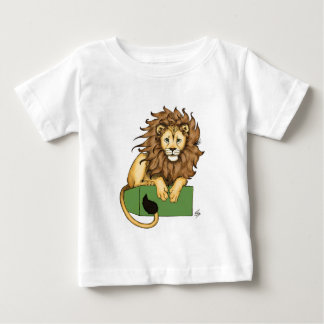 African Lion on a green box Baby T-Shirt