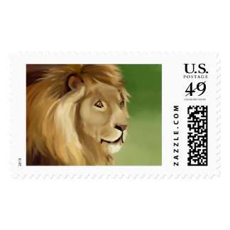 African Lion Post Stamp