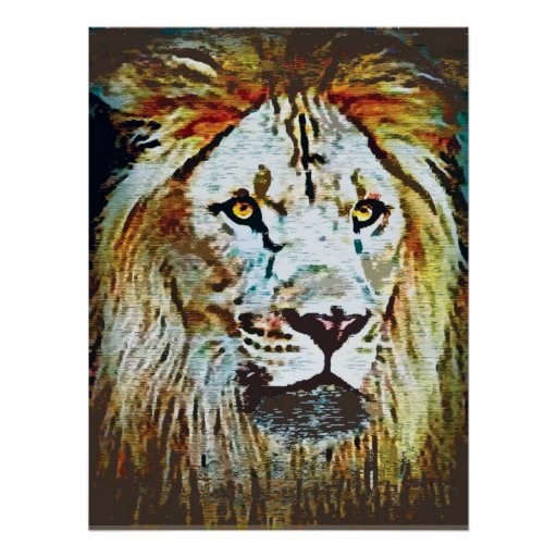 African Lion Print