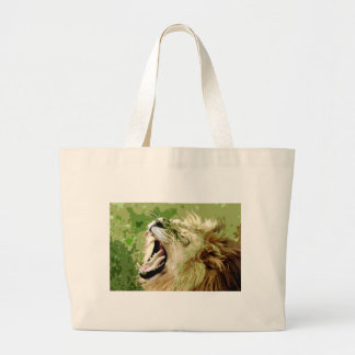 African Lion Roaring Bags