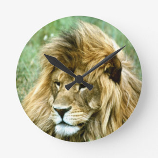 African  lion round clock