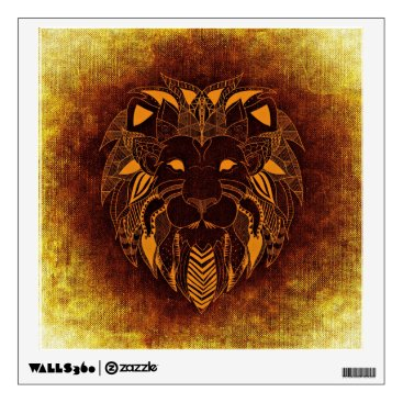 Beach Themed African Lion Wall Decal