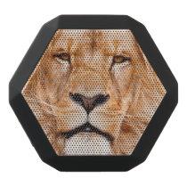 African Lion Wildlife Animal Closeup Portrait Black Bluetooth Speaker