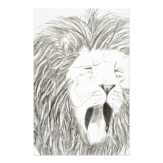 African Lion; Wildlife Artwork Collection Stationery