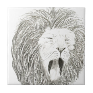 African Lion; Wildlife Artwork Collection Tile