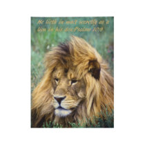 African lion wood poster