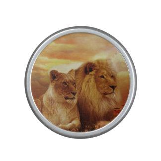 African lions - safari - wildlife bluetooth speaker