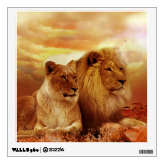 African lions - safari - wildlife wall decal