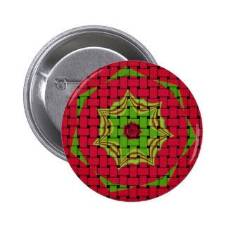 African Lovely Woven red design 2 Inch Round Button