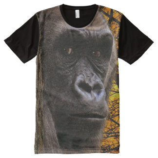 African Lowland Gorilla & Jungle Primate Wildlife All-Over Print T-shirt