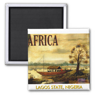 AFRICAN Magnet(Mojisola A Gbadamosi Okubule) 2 Inch Square Magnet