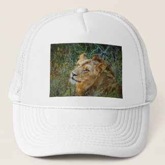African male lion peak caps & hats
