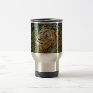 African male lion travel commuter mugs & cups