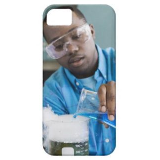 African man performing experiment in chemistry iPhone SE/5/5s case