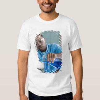 African man performing experiment in chemistry t shirt