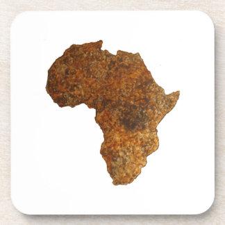 African Map Art Home Decor Drink Coaster Set