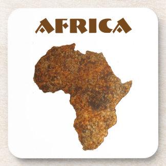 African Map Art Home Decor Drink Coaster Set 2