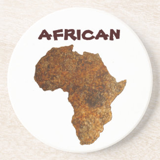 African Map II Art Home Decor_Gift Drink Coasters
