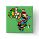 African Map of Africa flags country maps flag Button