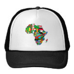 African Map of Africa flags within country maps Trucker Hats