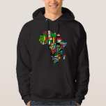 African Map of Africa flags within country maps Hooded Pullovers