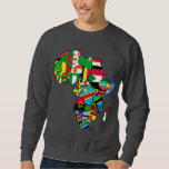 African Map of Africa flags within country maps Pullover Sweatshirts