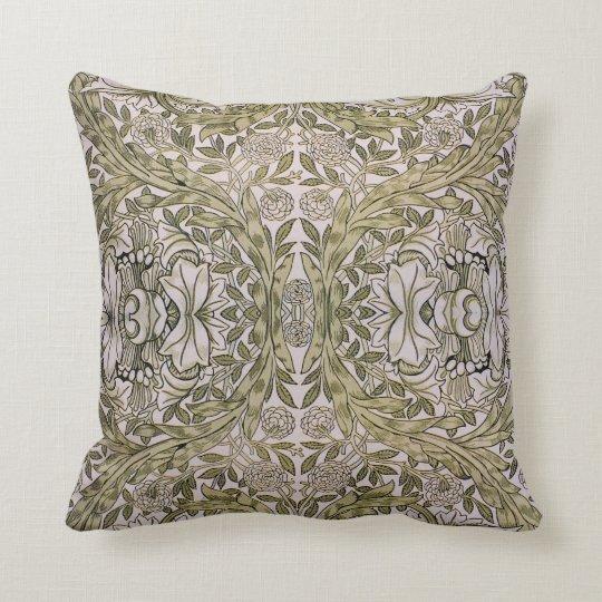African Marigold 19th Century Textile Print-Morris Throw Pillow